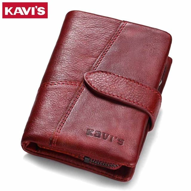 Hot Deals $15.59, Buy KAVIS 2017 Genuine Leather Women Wallet And Purses Coin Purse Female Small Portomonee Rfid Walet Lady Perse For Girls Money Bag