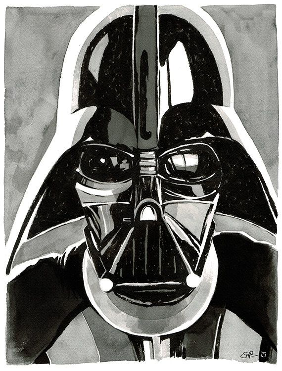 17 best images about star wars on pinterest adam online for Darth vader black and white