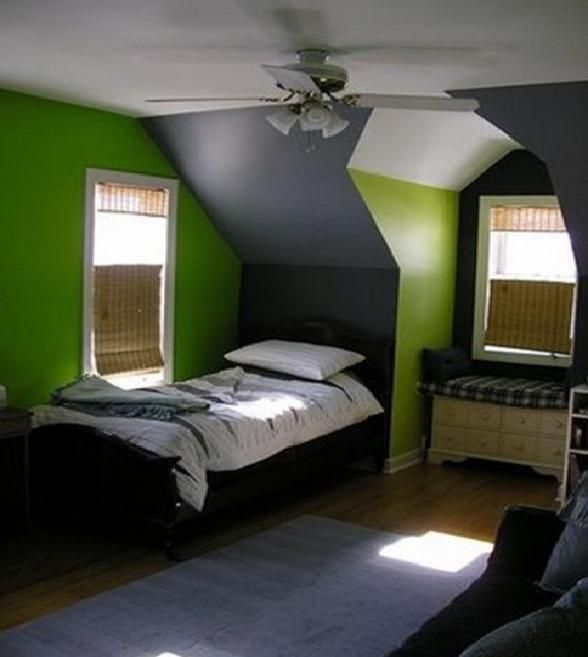 Green And Grey Boys Room. A Wants A Green Bedroom This