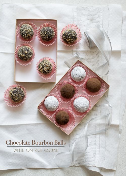Chocolate Bourbon Balls, made in 3 ways. from @whiteonrice