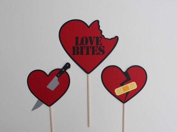 Best Anti Valentine's Day Photo Booth Props  by PAPERandPANCAKES, $20.00 on Etsy.com