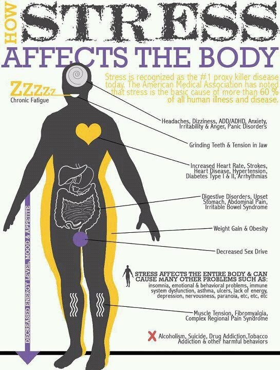 How Stress Affects the Body and RSD/CRPS does cause stress.