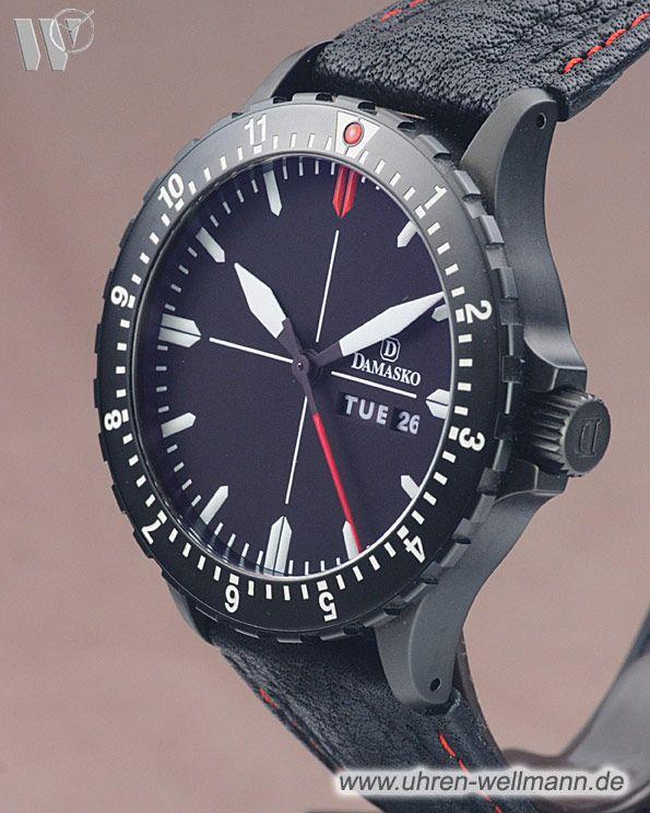 Damasko DA44 Black, Referenznummer: DA44, Herrenuhr, Gehäusematerial: Stahl-schwarz (4425) -- www.uhren-wellmann.de --