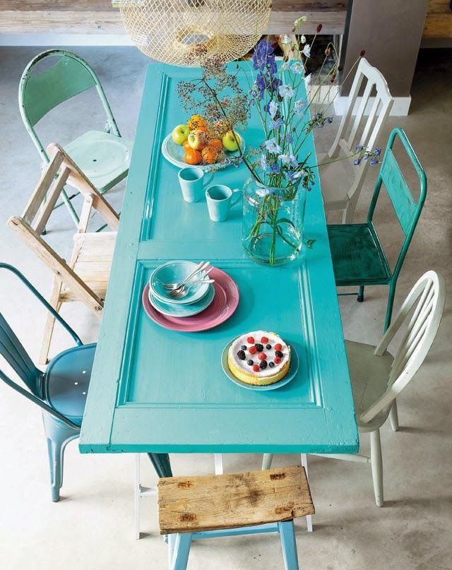 Do it door as table. For the porch/garden?