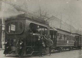 Stoomtram van de htm rijswijkse weg den haag 1900