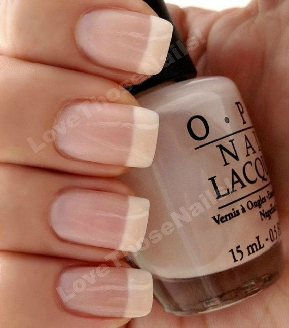 OPI Perfect Pink & White French manicure ~ OPI Bubble Bath, OPI Alpine Snow Nail Polish With Easy Instructions