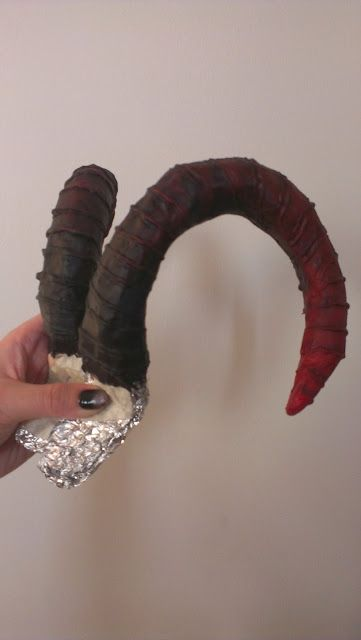 Easy and cheap DIY demon horns. Seriously, I can make these with the materials in my house right now.