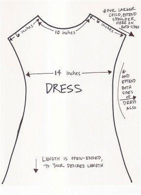 Pattern for girls peasant dress