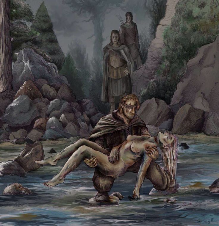 """Three days later she is resurrected by Lord Beric Dondarrion, who gives his life for hers. Catelyn's wounds only partially healed, leaving her mutilated and without the ability to speak. She becomes consumed with the desire for vengeance over her family's betrayal and murder. She takes the name """"Lady Stoneheart"""" and assumes command of Beric Dondarrion's outlaw band, the brotherhood without banners."""