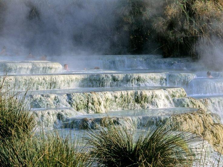 Italy's Amazing Hidden Hot Springs :  Cascate Del Mulino, Tuscany |   Laghetto di Fanghi, Sicily |   Fosso Bianco, San Filippo, Tuscany |   Sorgeto, Ischia Island, Campania |   Bagni Nuovi, Lombardy |   Lake Garda Hot Springs, Lombardy |   Bagni Di Petriolo, Tuscany
