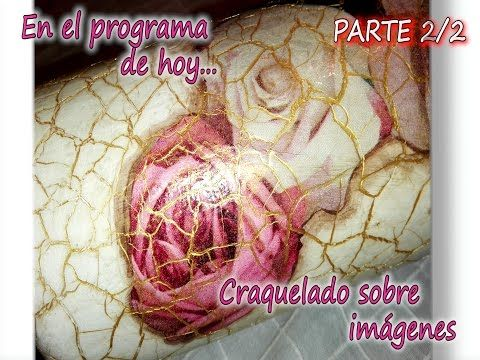 CRAQUELADO EN MADERA Y TEXTURAS CON PAPEL DE COCINA 3/ 3 - YouTube