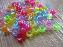 2000 stks 4*6mm Doorschijnende Gemengde Vat Vorm Pony Kralen Plastic Loom Kralen Voor Elastiekjes Rave Kandi Kids Ambachten Gratis Verzending(China (Mainland))