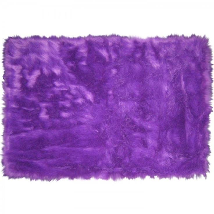 LA Rugs Flokati Purple Shag Rug