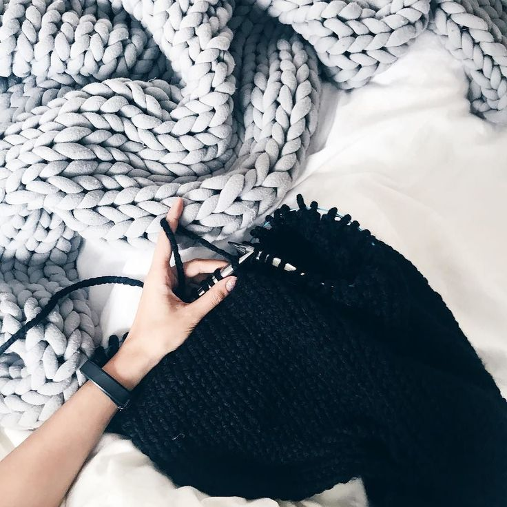 Knitting in bed