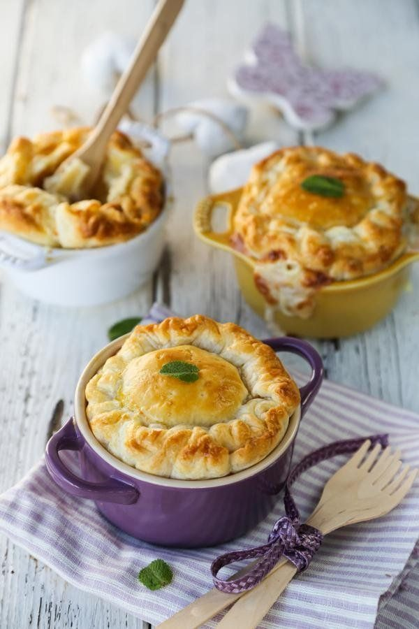 Savory Mac and cheese with an Italian twist - love the individual mini servings!