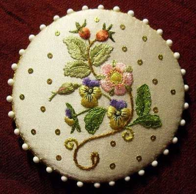 Pin Keep by Susan O'Connor - the design is from her book Flowers for Elizabeth