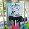 Shark Birthday Party Favor Tag by That Party Chick - Shark Reef