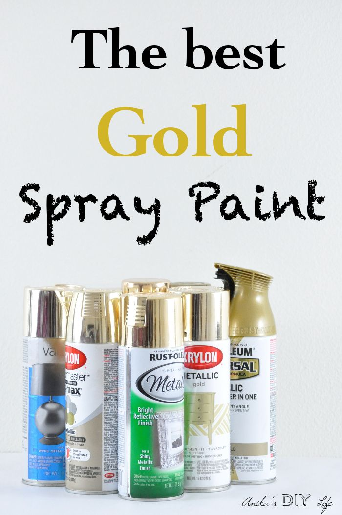 She tested 8 brands of gold spray paint! This is the most comprehensive review of the best gold spray paint out there!