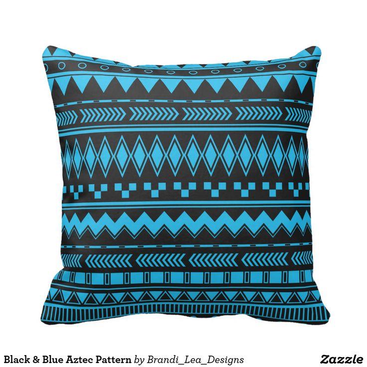 Teste padrão asteca preto & azul   Para mais produtos, visite o mainstore aqui: http://www.zazzle.com/brandi_lea_designs*