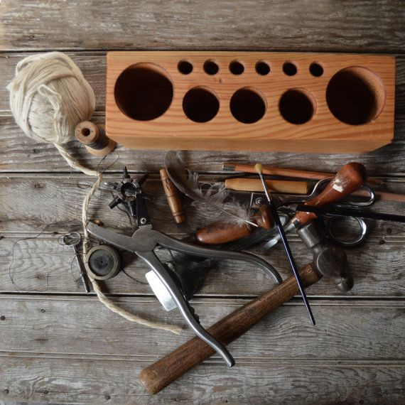 Large Desk Caddy by Peg and Awl by PegandAwl on Etsy