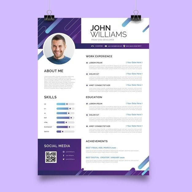 Resume Template Resume Template Word Resume With Photo Resume With Cover Letter Professional Resume Cv Template Cv Modern Resume Word Modele Cv Modele De Cv Creatif Modele De Cv Moderne