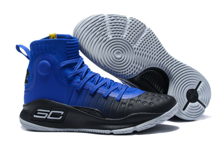 2017 Cheap Under Armour Curry 4 Black Royal Blue For Sale