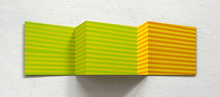 Oblong1, 2011, 22x70x5cm, Acryl auf Alublech, Edgar Diehl