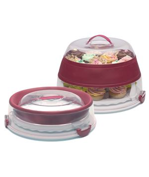 Progressive International Collapsible Cupcake Carrier Travel worry-free with this nifty carrier, which
