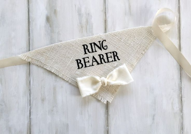 Ring Bearer - Wedding Dog Bandana with Bowtie #dog-collar #dog-of-honor #ring-bearer