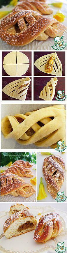 Muffins mit Birne Füllung - Rezept für Teig Mehl (eine Tasse Tee 160 Gramm) - 2-Stack.  Hefe (frisch, kann durch trockene ersetzt werden, die Verringerung der Anzahl der bis zu 7 g) - 15 g Milch - 150 g Zucker (gehäuft) - 3 EL.  l.  Butter - 30 g Olivenöl - 2 EL.  l.  Salz - 0,5 TL ..  Vanilla - 1 Stück Ei - 1 St Für die Füllung Pear - 5 Stück Zucker (re