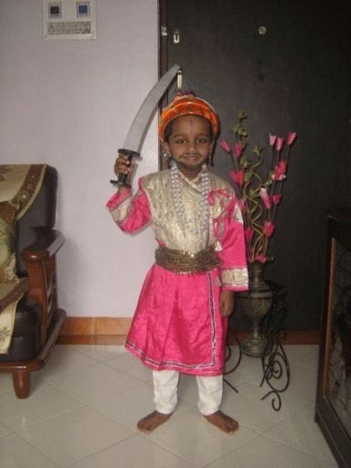 Fancy dress competition Ideas - Shivaji Maharaj click http://www.life-livewell.com/kids/fancy-dress-competition-ideas to know more
