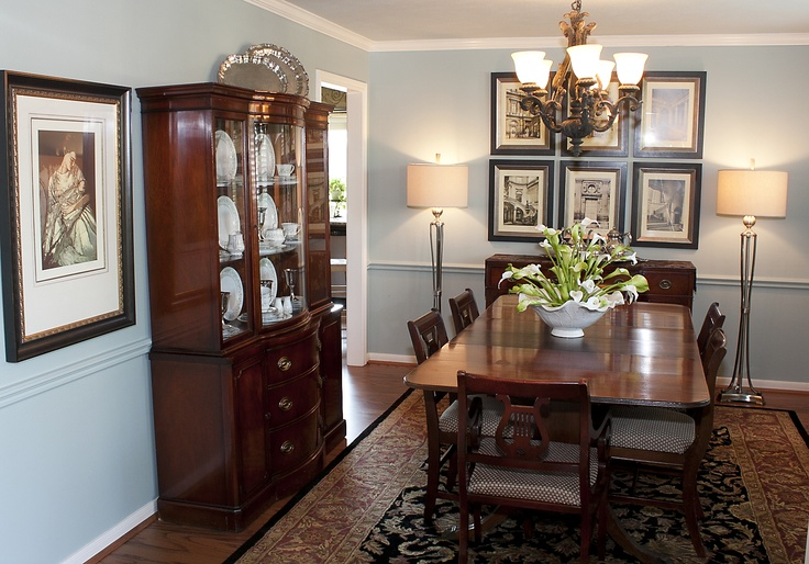 chair rail painted the same color as the walls dining room designed by mary strong pinterest colors chairs and the ojays - Dining Room Paint Colors With Chair Rail