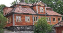 Jakobsberg malmgård i Stockholm. The house was moved to the open air museum Skansen in Stockholm to save it from demolition.