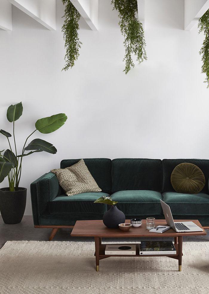 Boho Style The Green Velvet Sofa 6