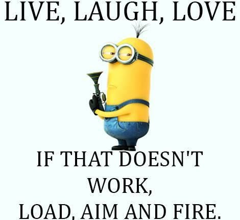 "So because a minion says it, it's ok to say but if I were to say this with another background, I'd be labled as ""crazy."""