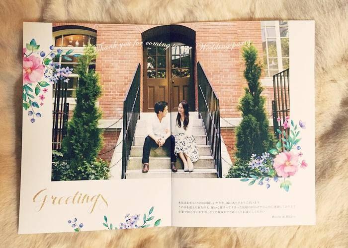 愛し合うふたりをゲストに自己紹介♡披露宴で必須*『プロフィールブック』の可愛いデザイン6選✳︎のトップ画像