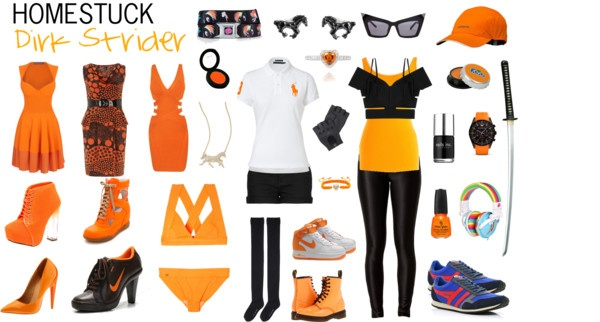 """Homestuck Fashion: Dirk Strider"" by khainsaw on Polyvore"