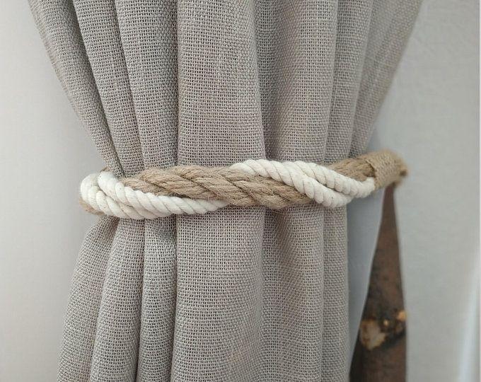 Pino Tende Di Corda Bianca Cotone Corda Curtain Tie Backs Etsy Curtain Tie Backs Rope Curtain Tie Back