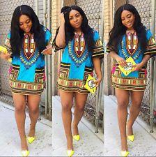 Women African Dashiki Shirt Kaftan ...