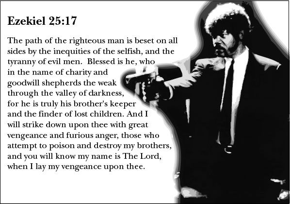 Bible Verse And Image Pulp Fiction Wallpaper: I Love Pulp Fiction.