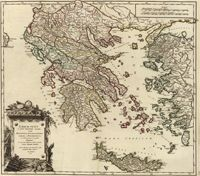 This is a really old and really cool historical map of Ancient Greece from the year 1752 (told you it was really old!).