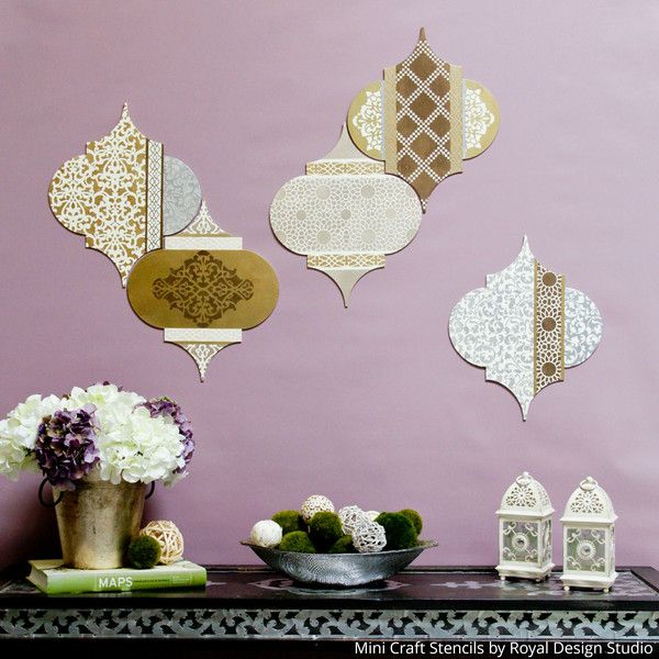 Tutorial DIY: Uso Craft plantillas para hacer Mix and Match arte de la pared! | Royal Design Studio