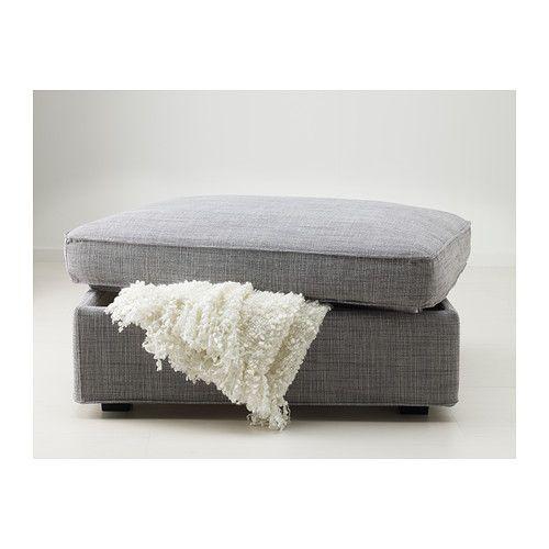 KIVIK Footstool with storage - Isunda gray - IKEA $189