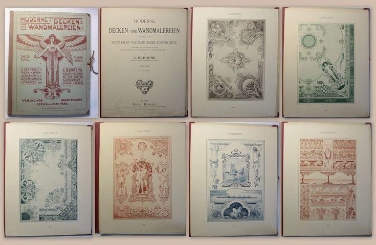 Behrens Moderne Decken- und Wandmalereien Katalog Jugendstil Muster um 1900 xz   Antiquitäten & Kunst, Antiquarische Bücher   eBay!