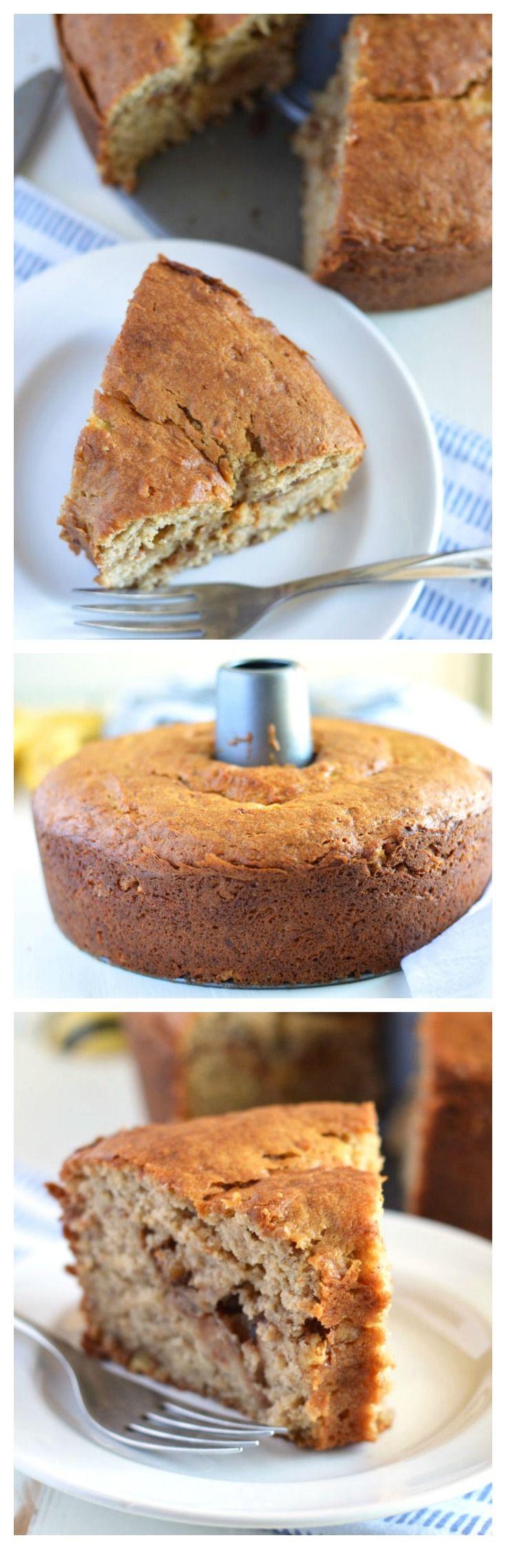 Honey Banana Coffee Cake (gluten free and dairy free).   Recipe from @whattheforkblog   whattheforkfoodblog.com