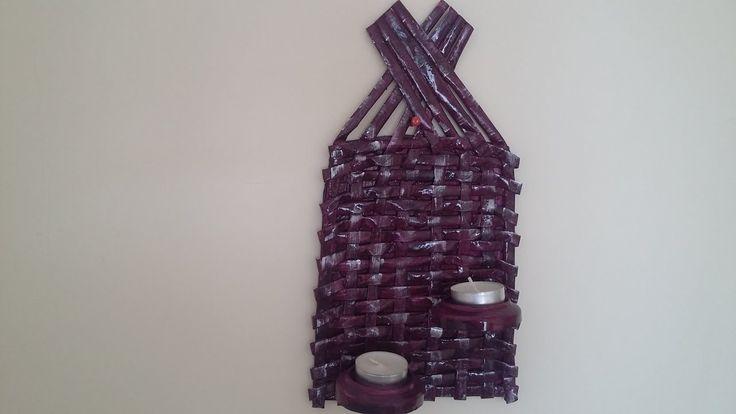Gazeteden Duvar Mumluk Yapımı-Geri Dönüşüm- Wall candle holders