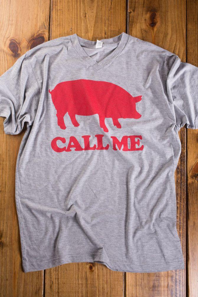 Call Me V-Neck T-Shirt on BourbonandBoots.com #arkansas #razorbacks #WPS