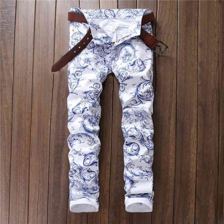 26.59$  Watch now - http://ali73l.shopchina.info/go.php?t=32784101503 - 2017 Motorcycle Mens 3D printed jeans White jeans men White Skinny Men biker jeans Biker jeans men high quality rap men pant 26.59$ #buychinaproducts