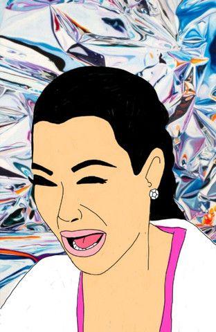 Kim kardashian crying print framed pebbles hooper - Kim kardashian crying collage ...
