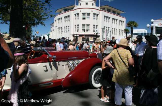 Crowds at the art deco weekend, Napier, New Zealand, 2014.